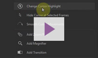 Cursor highlighting help video