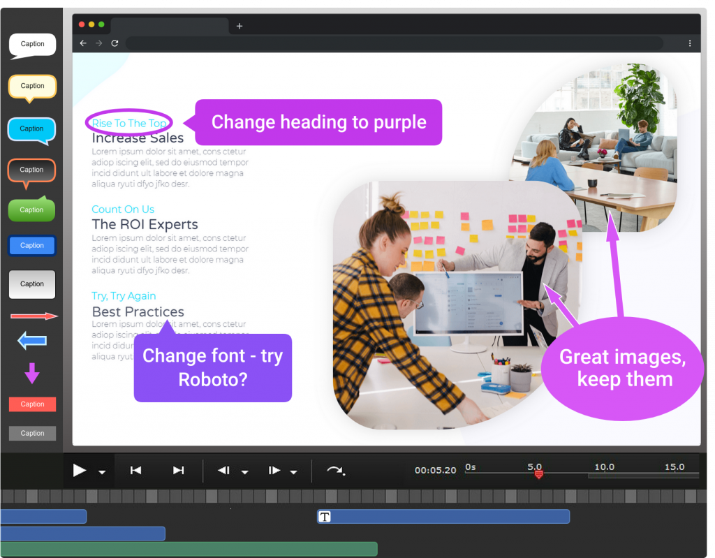 Add arrows, text and more to your videos